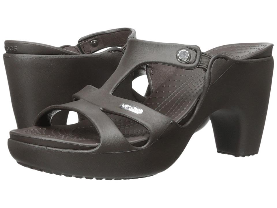 325a1cea8480 ... UPC 887350461800 product image for Crocs - Cyprus V Heel  (Espresso Espresso) Women s