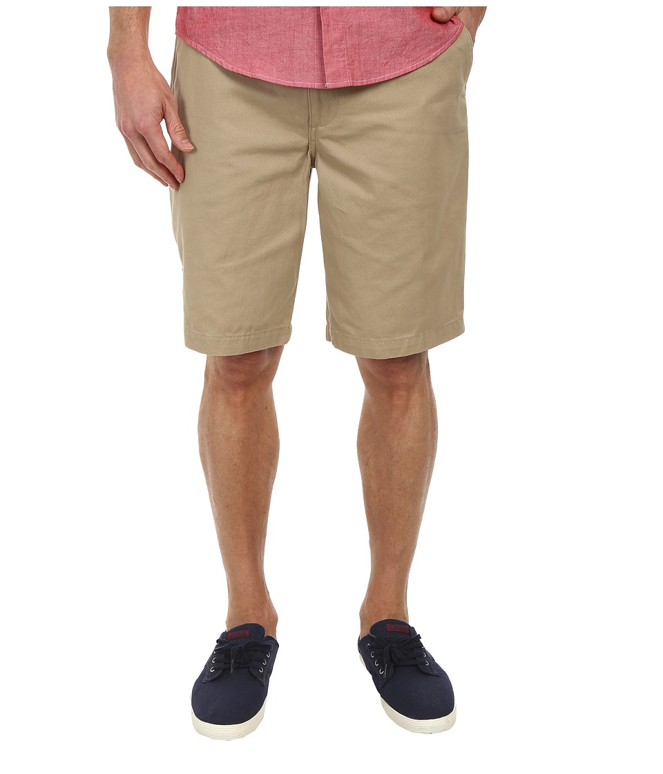 Dockers Men's - Pacific On the Go Classic Flat Front Shorts (Twill - Sand Dune) Men's Shorts
