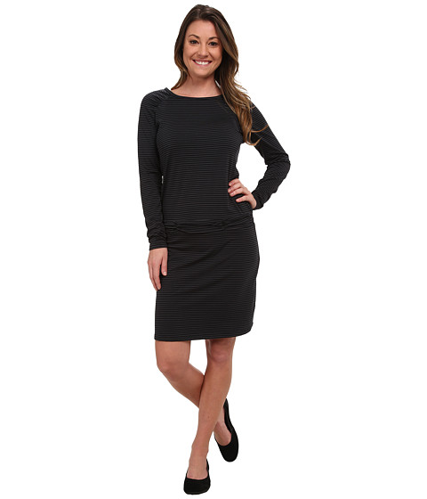 Carve Designs - Long Sleeve Shore Dress (Black Stripe) Women's Dress