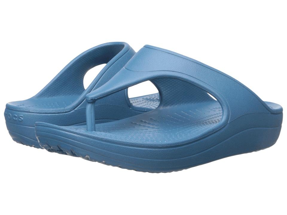 Crocs - Sloane Platform Flip (Peacock) Women