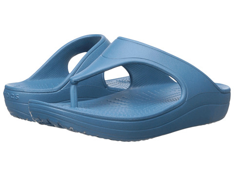 Crocs - Sloane Platform Flip (Peacock) Women's Sandals