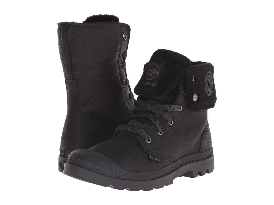 Palladium - Baggy Leather Gusset S (Black) Men's Boots