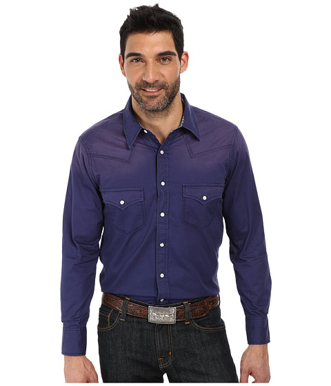 Rock and Roll Cowboy - Long Sleeve Snap B2S2124 (Navy) Men's Long Sleeve Button Up