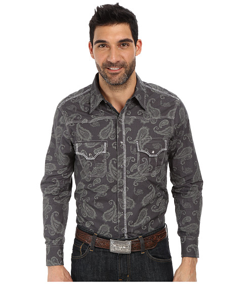 Rock and Roll Cowboy - Long Sleeve Snap B2S2133 (Charcoal) Men's Long Sleeve Button Up