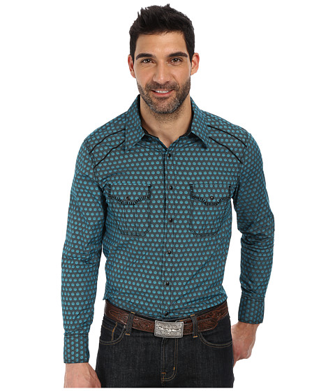 Rock and Roll Cowboy - Long Sleeve Snap B2S2135 (Turquoise) Men's Long Sleeve Button Up