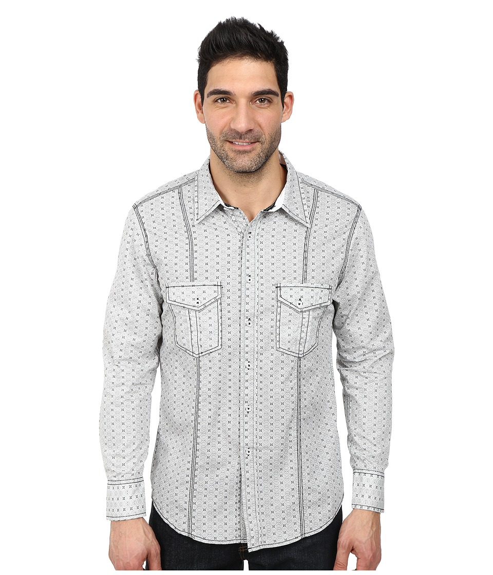 Rock and Roll Cowboy - Long Sleeve Snap B2S2136 (Grey) Men's Long Sleeve Button Up