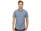 DKNY Jeans Short Sleeve Gradient Check Shirt/Casual Wash