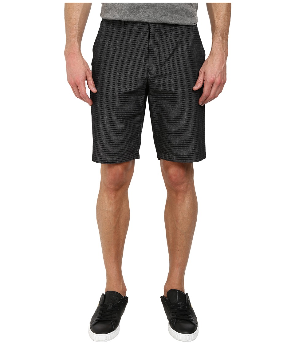 DKNY Jeans - Horizontal Stripe Chambray Trouser Shorts (Black) Men's Shorts