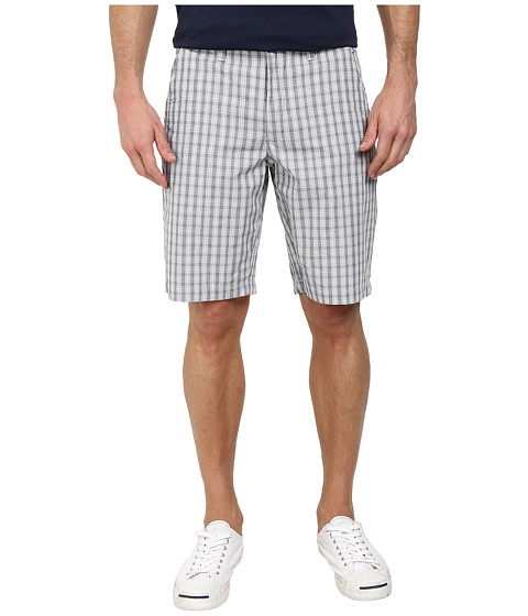 DKNY Jeans - Yarn Dye Cotton Check Trouser Shorts (Grey) Men