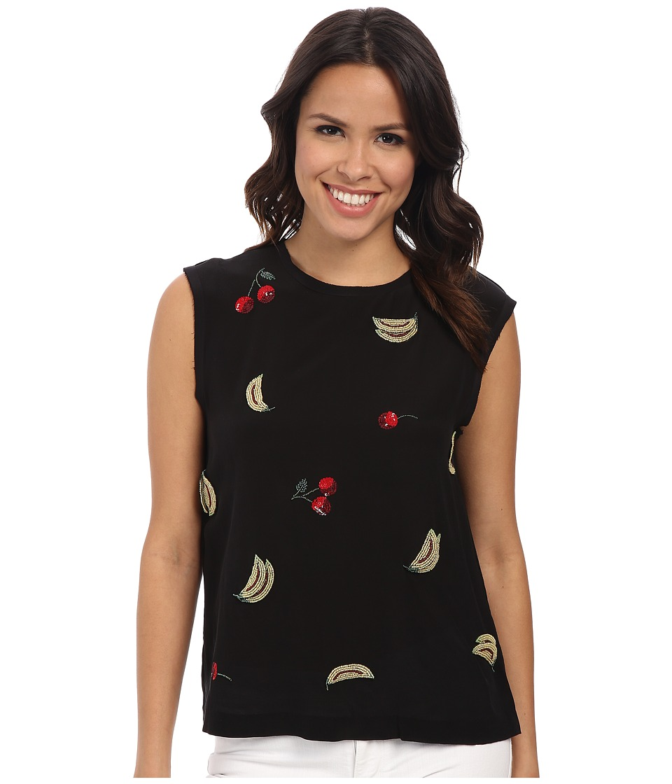 Nicole Miller - It's Bananas Tank Top (Black) Women's Sleeveless