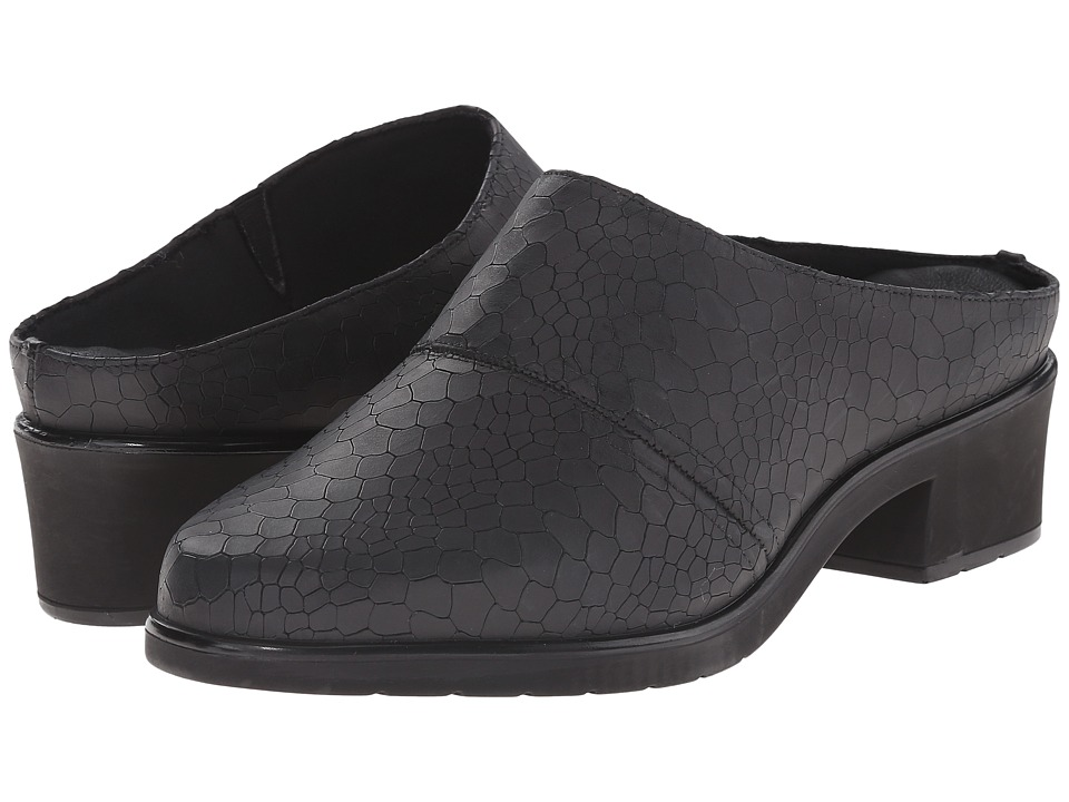 Walking Cradles - Caden (Black Baby Matte Croc) Women's Clog Shoes
