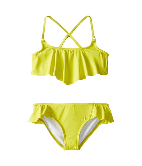 Billabong Kids - Sol Searcher Flounce Set (Little Kids/Big Kids) (Lemon Lime) Girl's Swimwear Sets