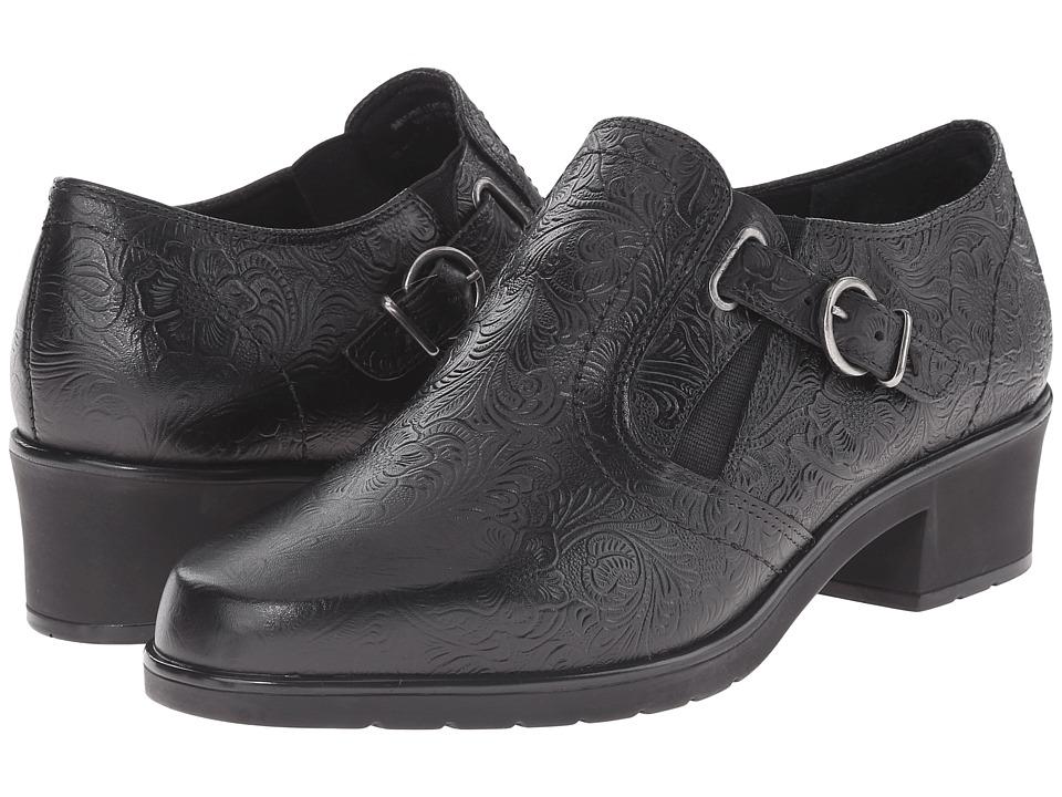 Walking Cradles Color (Black Tooled Leather) Women