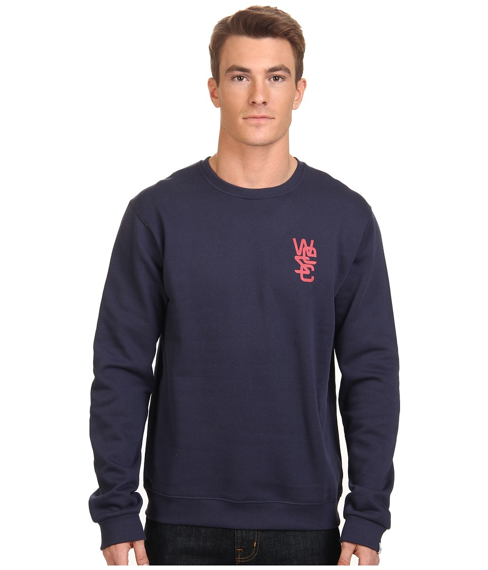 WeSC - Overlay Crew Neck Sweatshirt (Blue Iris) Men's Fleece