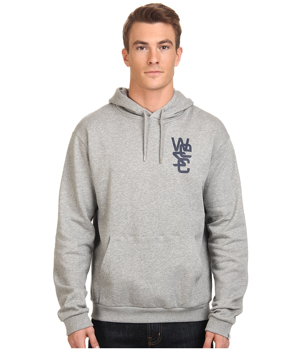 WeSC - Overlay Hooded Sweatshirt (Grey Melange) Men's Sweatshirt