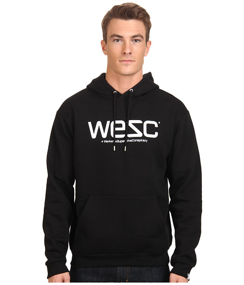 WeSC - WesC Hooded Sweatshirt (Black) Men's Sweatshirt