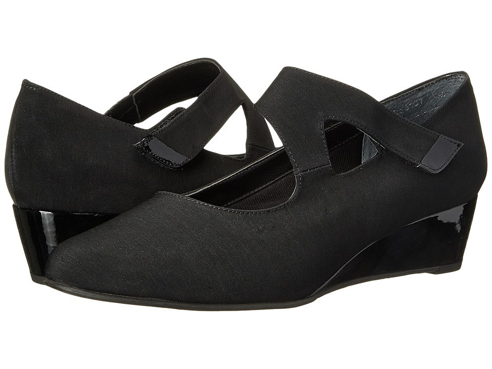 Rose Petals - Aubrey (Black Micro/Black Patent) Women's Shoes