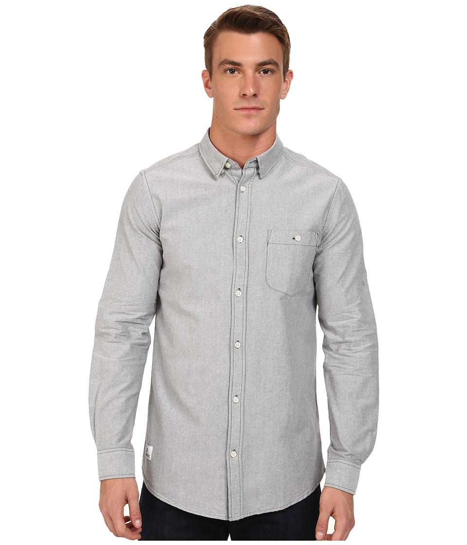 WeSC - Lye Long Sleeve Woven Shirt (Spring Black) Men's Long Sleeve Button Up