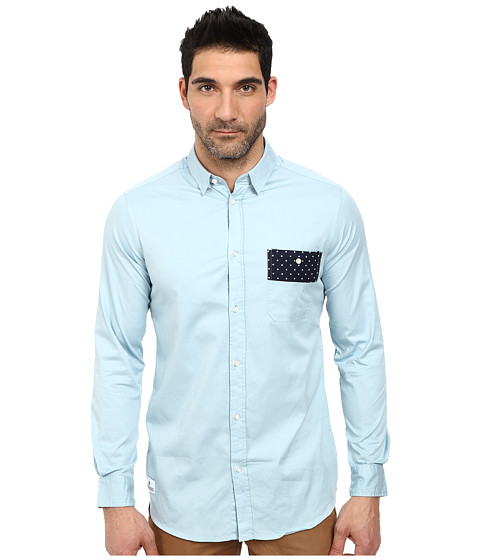 WeSC - Arak Long Sleeve Woven Shirt (Light Baby) Men's Long Sleeve Button Up