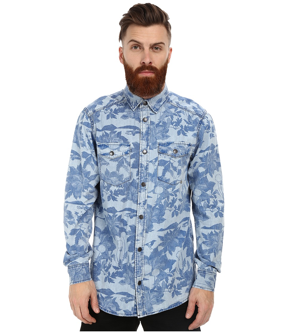 WeSC - Maccoy AOP Long Sleeve Woven Shirt (Suburban Tropic) Men