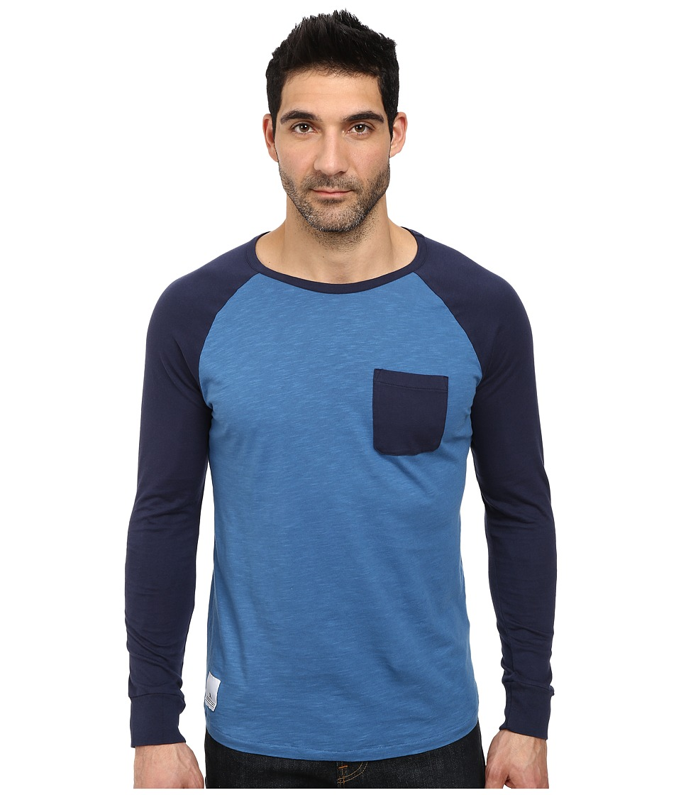 WeSC - Pontius Long Sleeve Tee (Deep Sea) Men's T Shirt