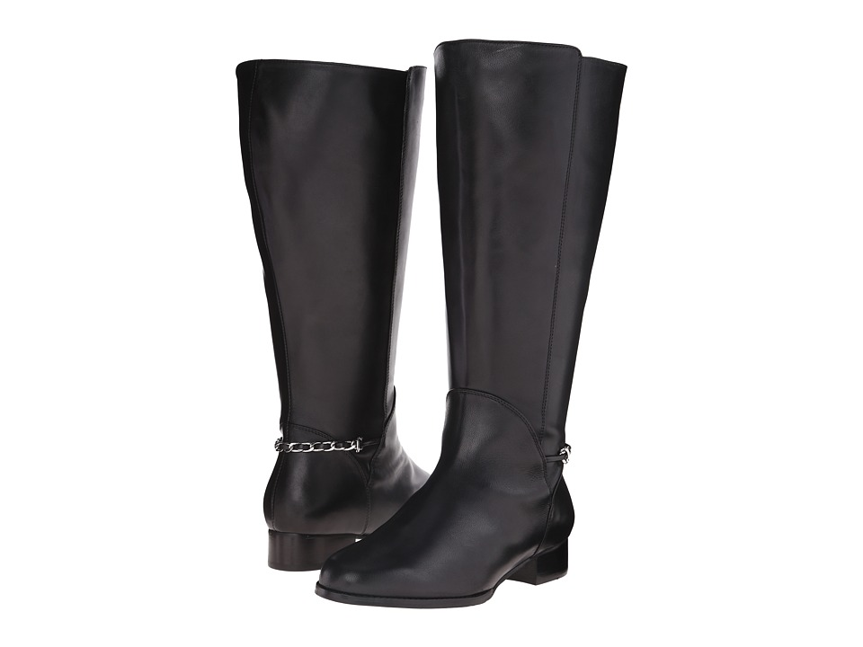 Rose Petals - Adina Extra Wide Shaft Boot (Black Nappa) Women