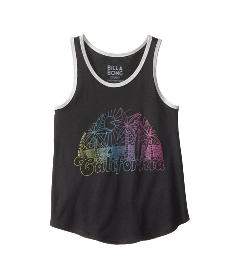 Billabong Kids - The Cali Scene Tank Top (Little Kids/Big Kids) (Off Black) Girl's Sleeveless
