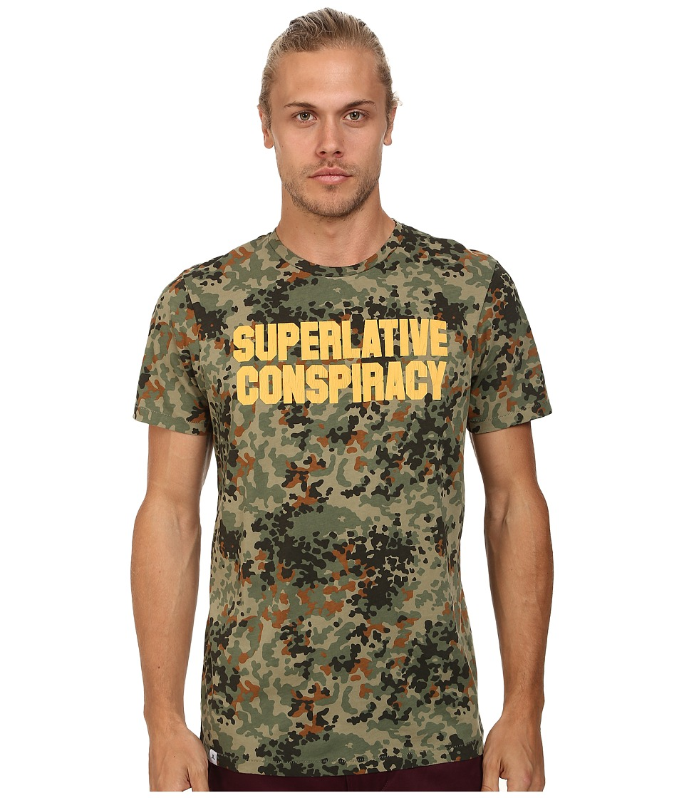 WeSC - SC Flecktarn Short Sleeve Tee (Aloe) Men's T Shirt
