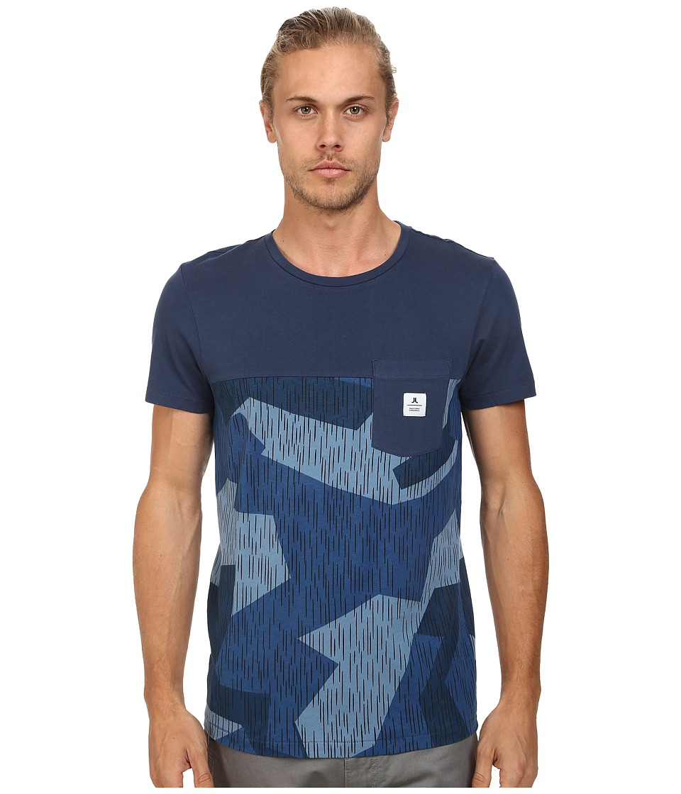 WeSC - Rain Camo Short Sleeve Tee (Insignia Blue) Men