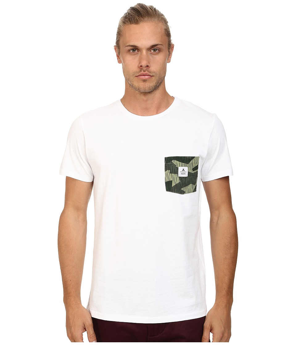 WeSC - Rain Camo Short Sleeve Pocket Tee (White) Men's T Shirt