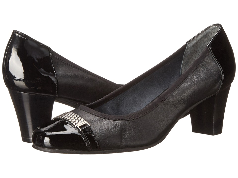 Rose Petals - Branson (Black Nappa/Black Patent) Women's Shoes