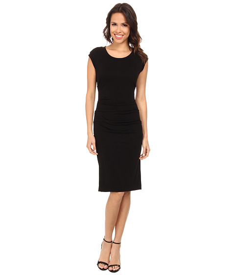 Nicole Miller - Midi Lauren Open Back Jersey Dress (Black) Women's Dress