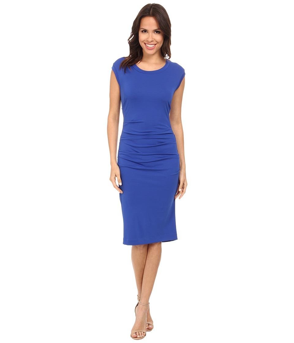 Nicole Miller - Midi Lauren Open Back Jersey Dress (Bluejay) Women's Dress