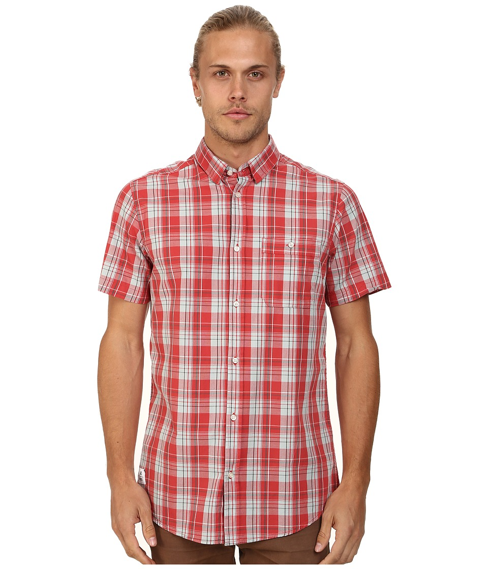 WeSC - Eirak Short Sleeve Woven Shirt (Baked Apple) Men's Short Sleeve Button Up