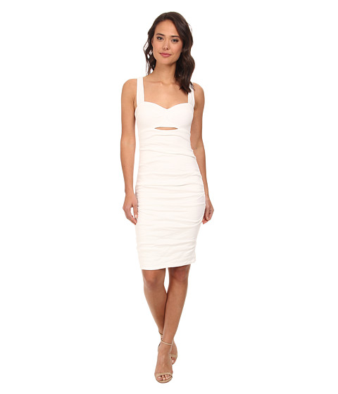 Nicole Miller - Cotton Metal Holly Sweetheart Dress (White) Women's Dress