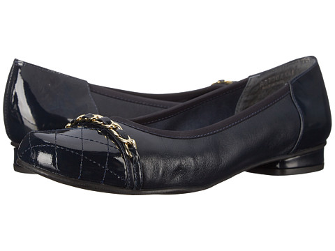 Rose Petals - Minnie (Navy Nappa/Quilted Patent/Patent) Women's Shoes