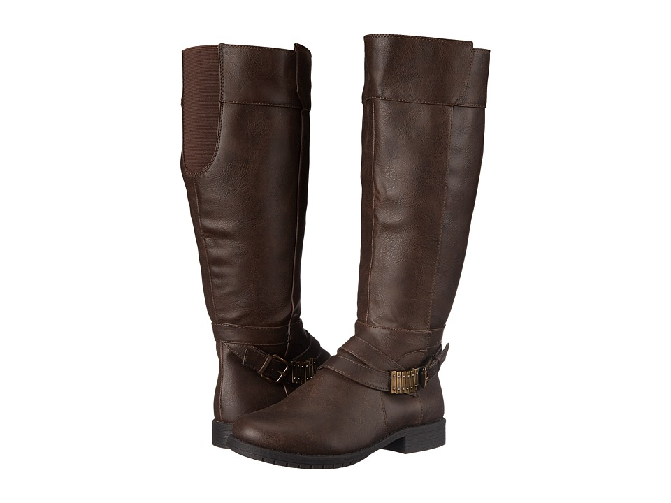 LifeStride Maximize Wide Calf (Dark Brown) Women