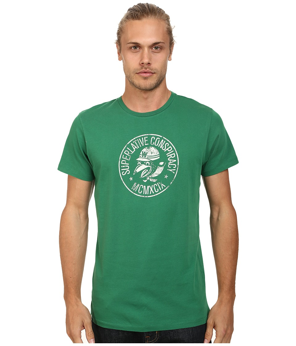 WeSC - Mopedoz Short Sleeve Tee (Verdant Green) Men's T Shirt