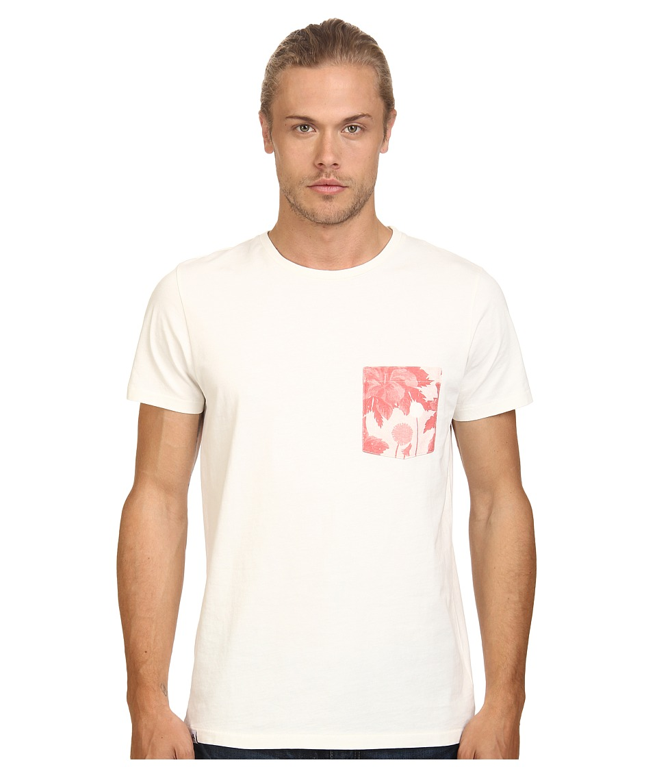 WeSC - Sarek Hawaii Short Sleeve Pocket Tee (Winter White) Men's T Shirt