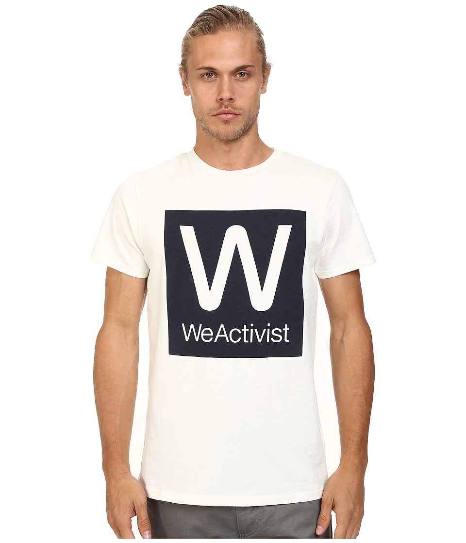WeSC - Weactivist Short Sleeve Tee (Winter White) Men