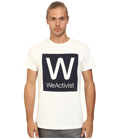 WeSC - Weactivist Short Sleeve Tee (Winter White) Men's T Shirt