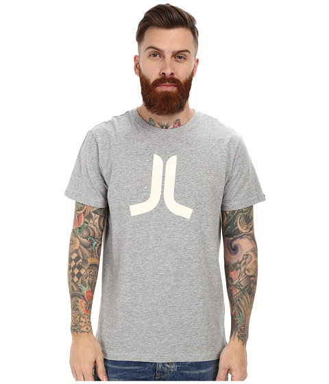 WeSC - Icon Short Sleeve Tee (Grey Melange) Men's T Shirt