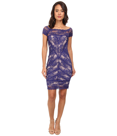 Nicole Miller - Cam Stretch Lace Dress (Dark Cobalt) Women's Dress
