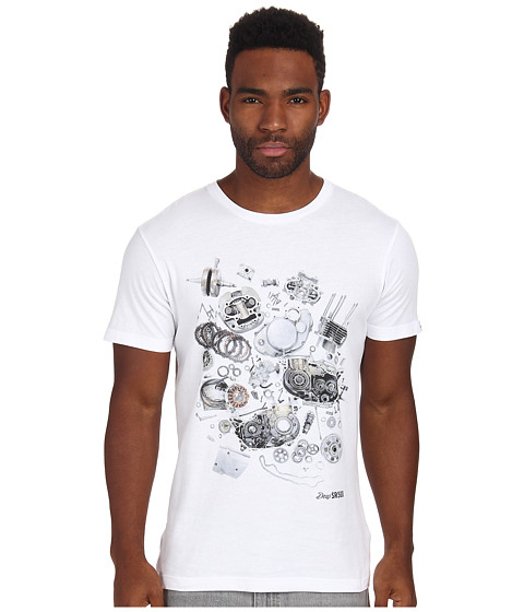 Deus Ex Machina - SR500 Tee (White) Men's T Shirt
