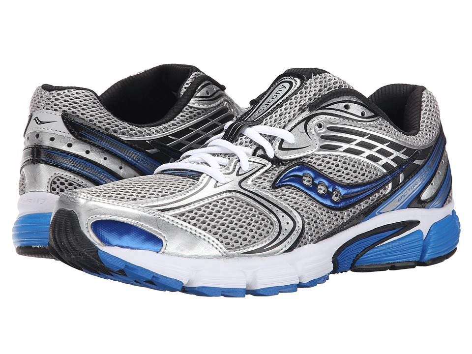 Saucony - Grid Tornado 6 (Silver/Black/Royal) Men's Running Shoes