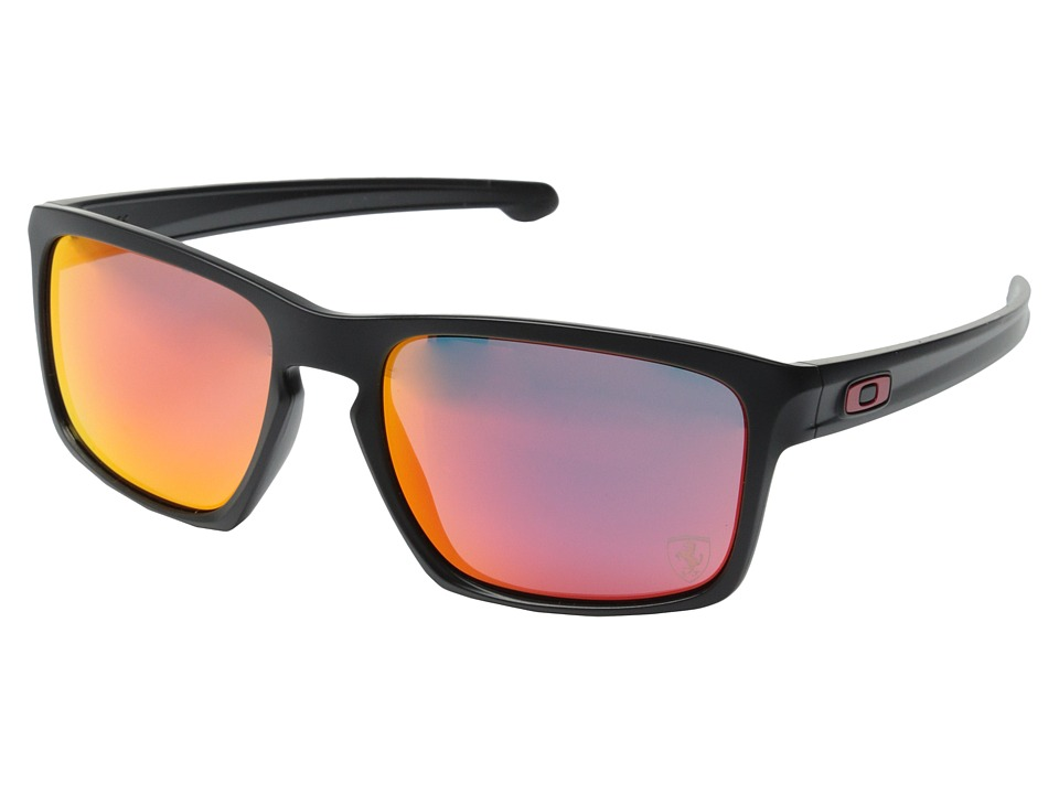 Oakley - Sliver (Matte Black/Ruby Iridium) Sport Sunglasses