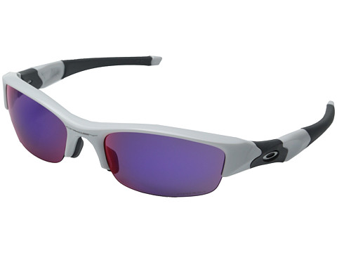 Oakley - Flak Jacket (Polished White/Prizm Road) Sport Sunglasses