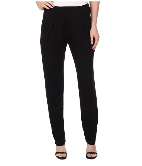 Three Dots - Pleated Front Pants (Black) Women's Casual Pants