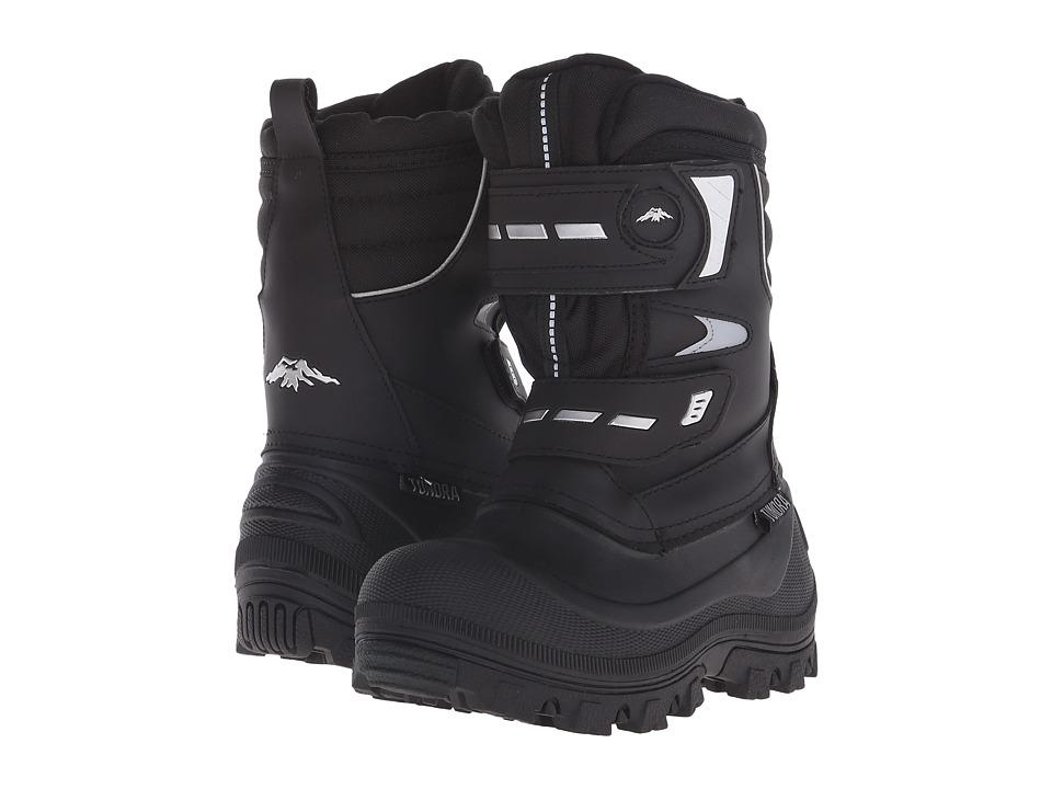 Tundra Boots Kids - Hudson-B (Little Kid/Big Kid) (Black/Silver) Boys Shoes