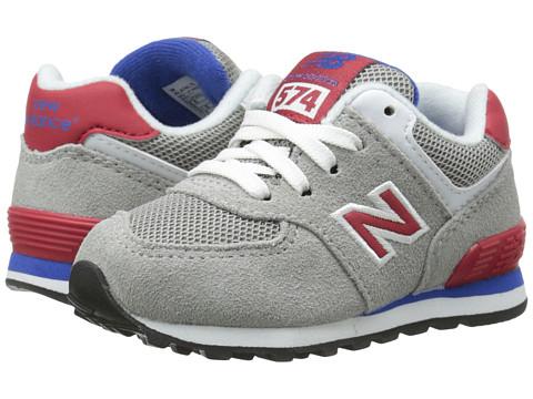 New Balance Kids - KL574 (Infant/Toddler) (Grey/Red) Boys Shoes